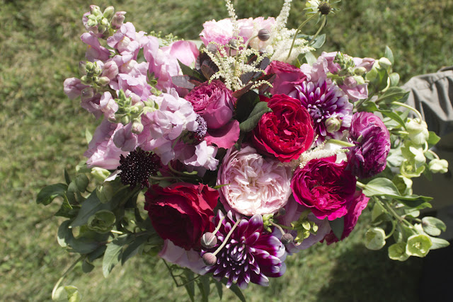 Whimsical bridal bouquet - Inn at Buttermilk Falls - Hudson Valley NY - Splendid Stems Floral Designs