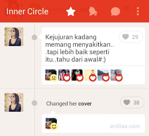 Inner circle - Kenali Aplikasi Path dan Fiturnya - Android