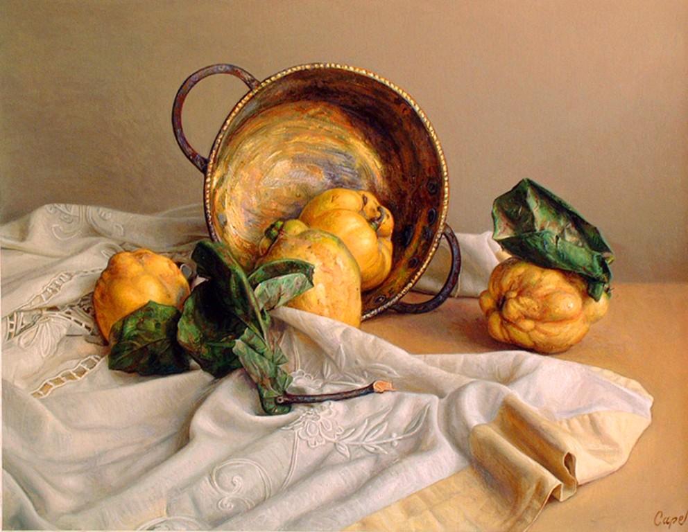Realista Con Frutas Pintor Antonio Guzman Capel Bon Con Frutas