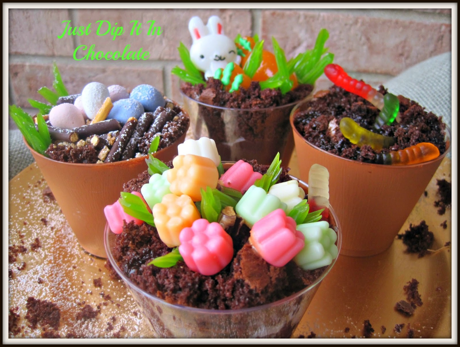 Just Dip It In Chocolate: Spring Clay Pots with a Surprise (Dirt Cake)