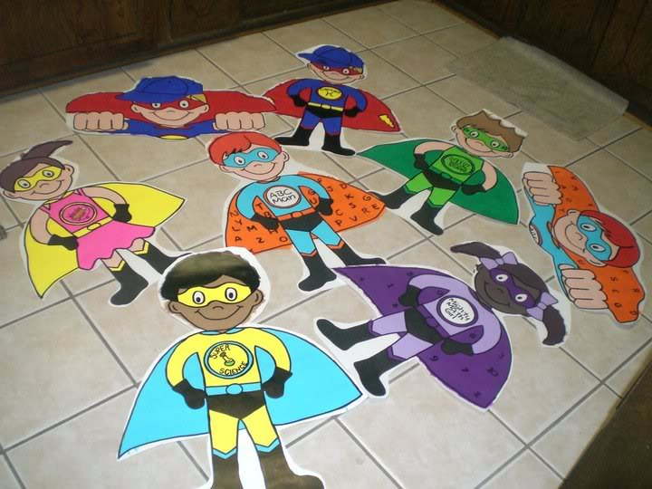 Super Heroes Decor For Classroom : Superheroes superkids themed classrooms clutter free