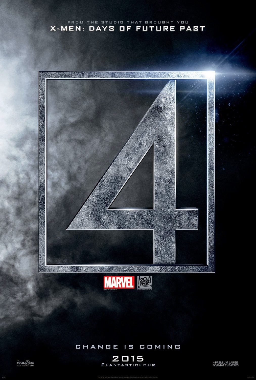 Fantastic Four Theatrical One Sheet Teaser Poster