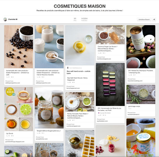 Cosmetiques Maison Pinterest Board