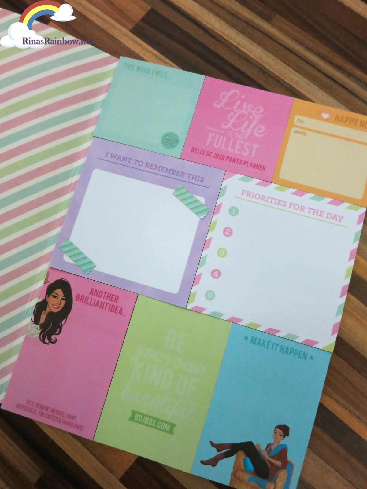 belle de jour sticky notes 2014