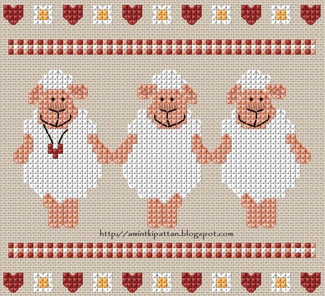 Милые овечки (вышивание)
