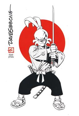 El proyecto Sakai - Ilustración de Dave Gibbons - edita Planeta DeAgostini - libro homenaje al samurai Usagi Yojimbo