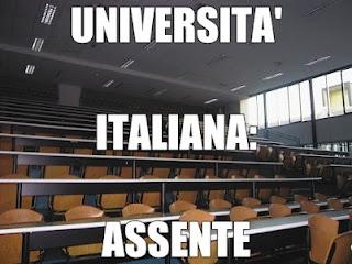 università italiana assente