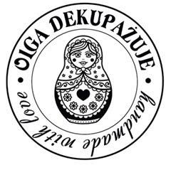 Olga dekupażuje