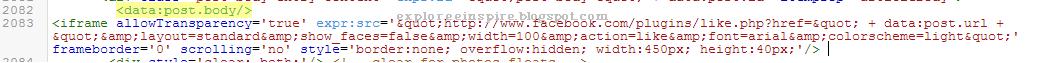como colocar botão curtir no blogger