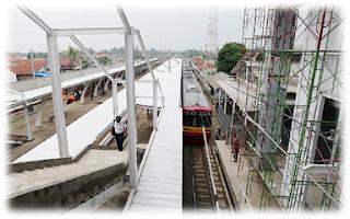 stasiun Parung Panjang sedang direnovasi