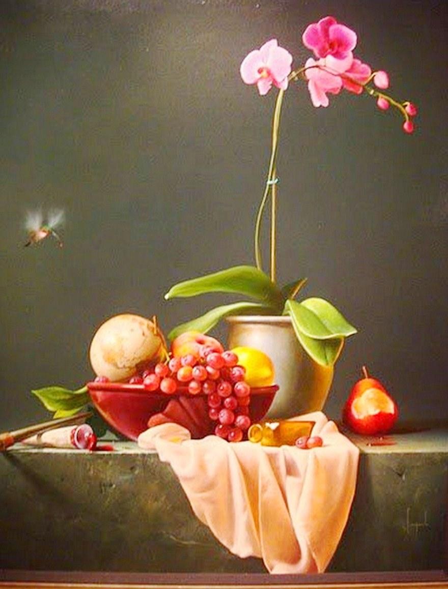 Cuadros de flores pintados al oleo 7 frutas for Cuadros pintados al oleo