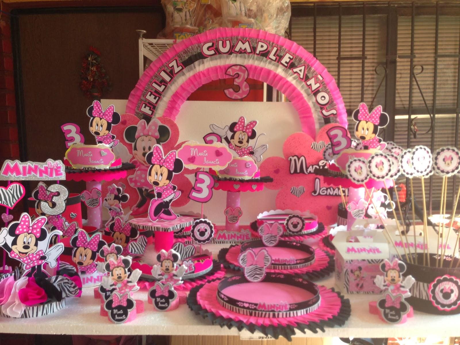 Decoraciones infantiles minnie animal print for Decoraciones infantiles