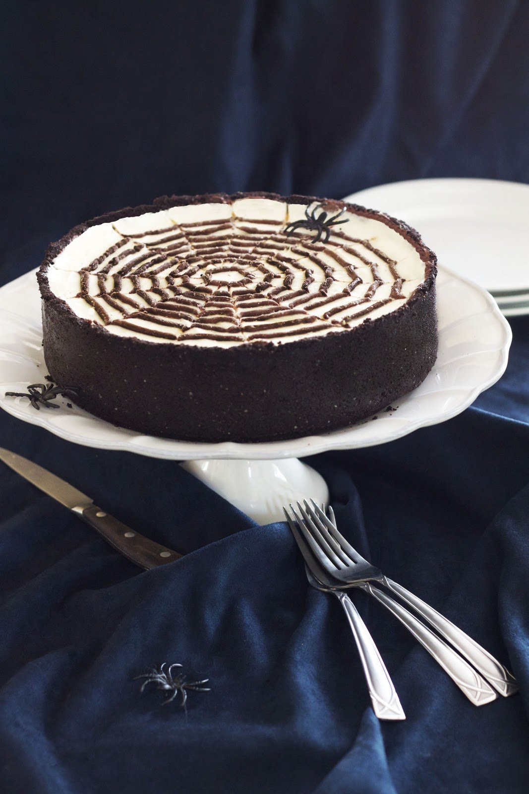 Epicurean Mom: No-Bake Spiderweb Cheesecake