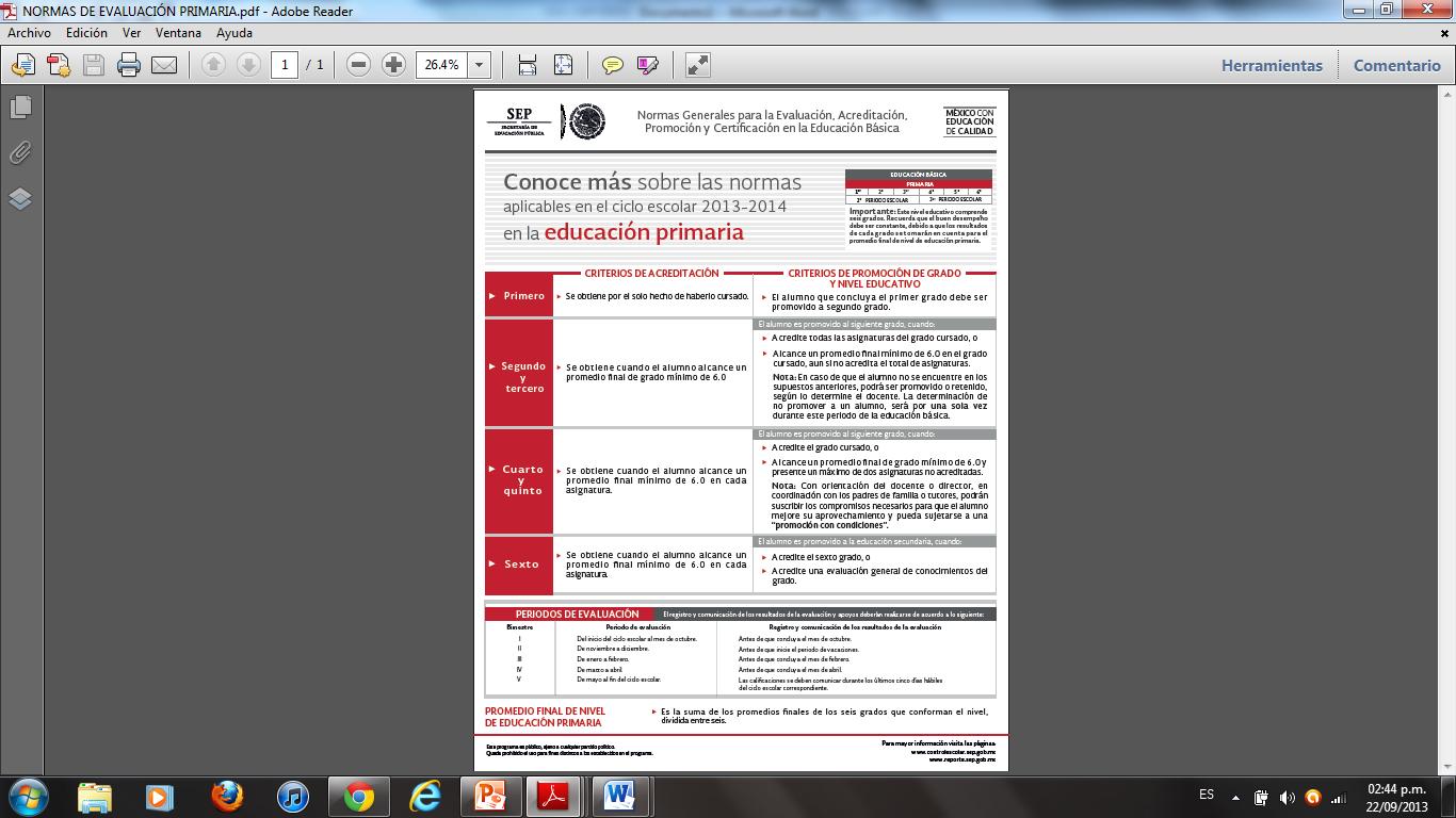 conocer los nuevos Lineamientos sobre Evaluación y Acreditación