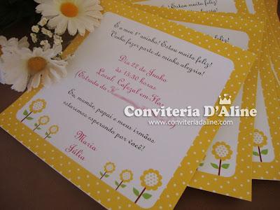 Convite Infantil Tema Abelhinha