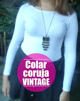 Colar Coruja Vintage