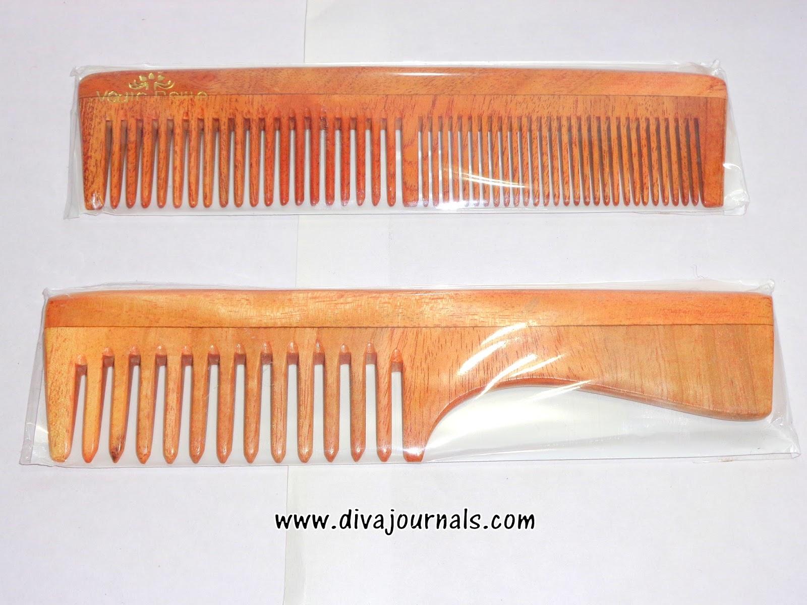 Vedic Delite Neem Wooden Combs
