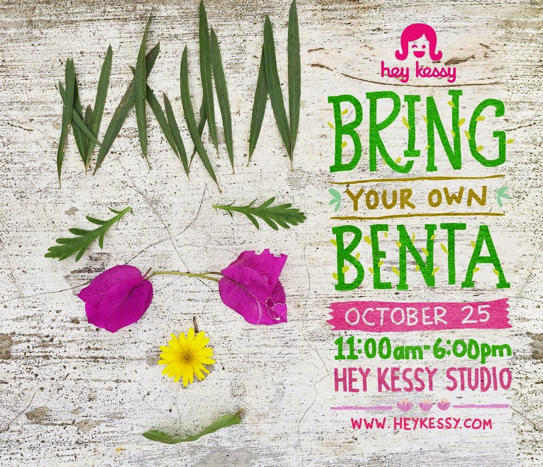 Bring Your Own Benta on Oct 25 at the studio
