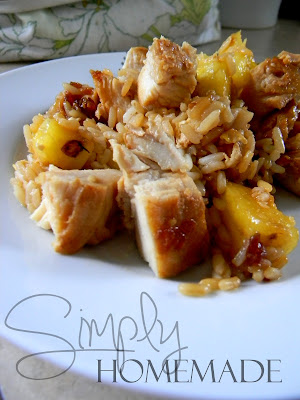 simply homemade: Pineapple and chicken fried rice