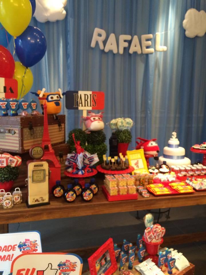 Atelier Tânia Kunst Decoração de festa de Aniversário Super Wings