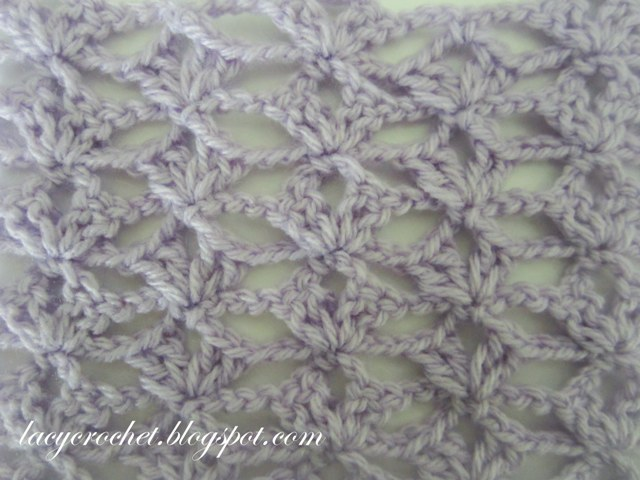 Crochet Stitches Lace : Lacy Crochet: Lacy Stitch for a Scarf