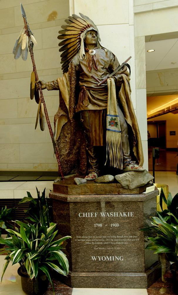 Chief Washakie Statue in the Area of the Capitol Visitor