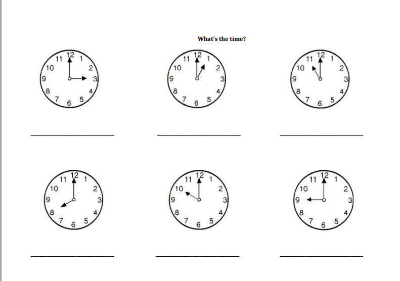Worksheet La Hora Worksheet el blog de espe whats the time mr wolf juego en clase y otro para la hora