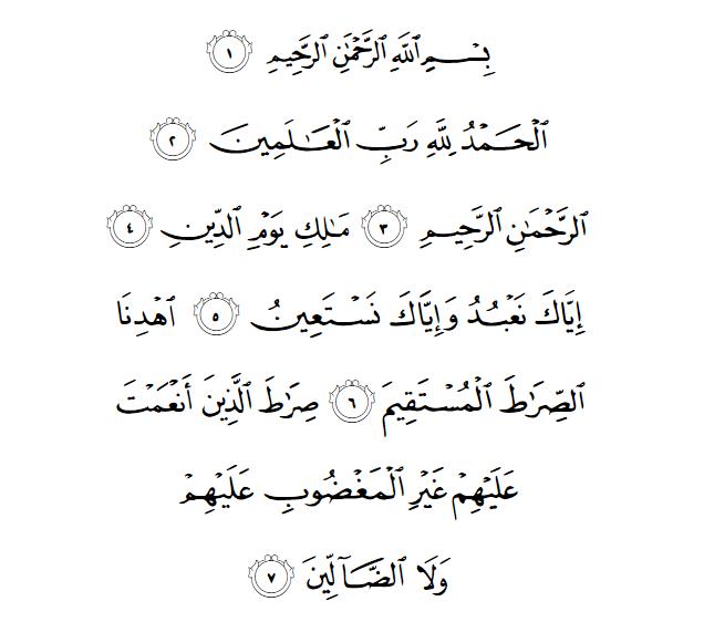 Bacaan Artinya Tafsir Beserta Kandungan Qs Al Fatihah 1