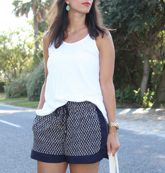 Zara navy drawstring shorts