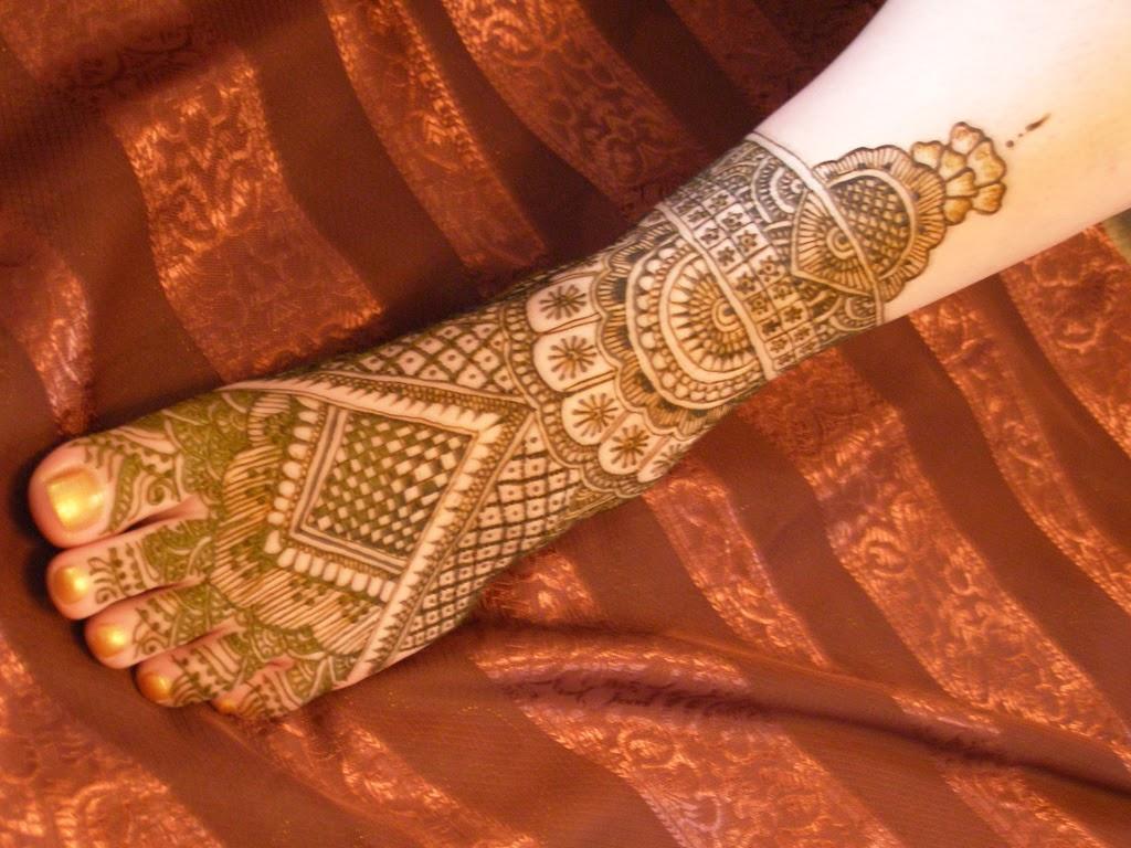 Mehndi Foot Design Patterns : Beautiful latest simple arabic pakistani indian bridal