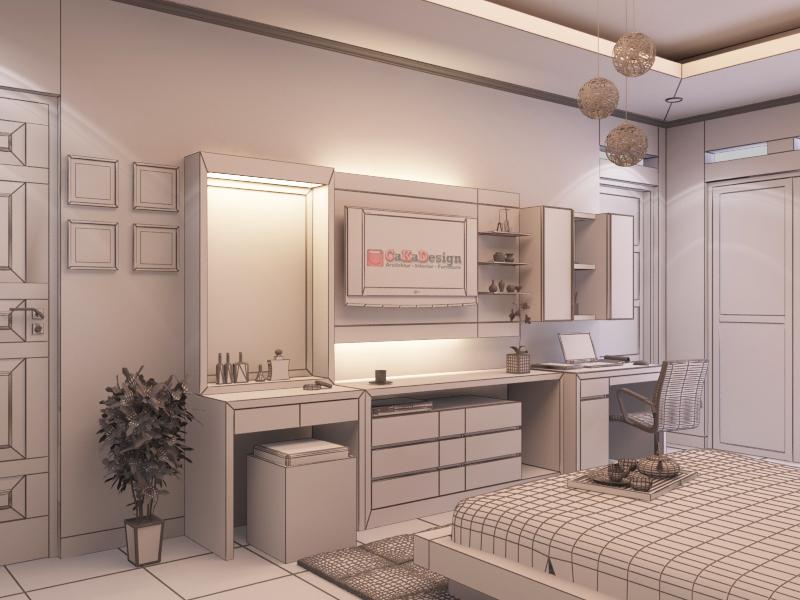 desain ruang tidur minimalis 01 caka design