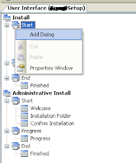 Add dialog in setup project