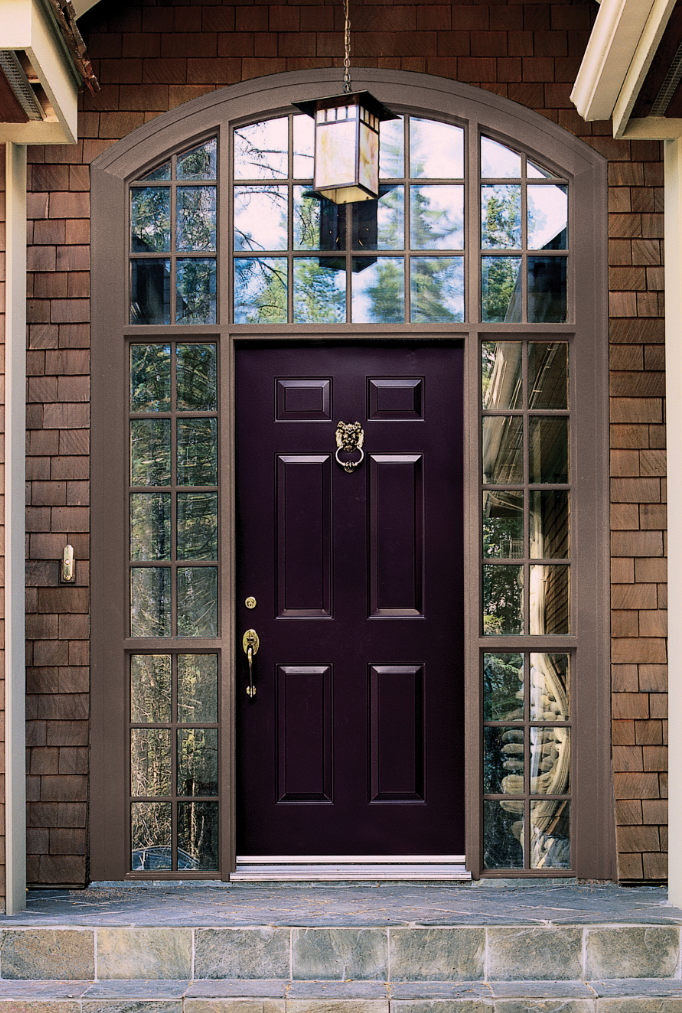 Color trend 2014 radiant orchid 15 beautiful exterior Dark green front door paint