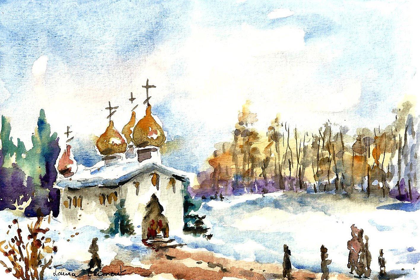 Laura climent painter paisajes nevados - Paisaje nevado navidad ...