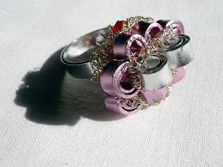 gioielli in filo di alluminio, gioielli wire, anello, pezzo unico, Mirna Radovanovic