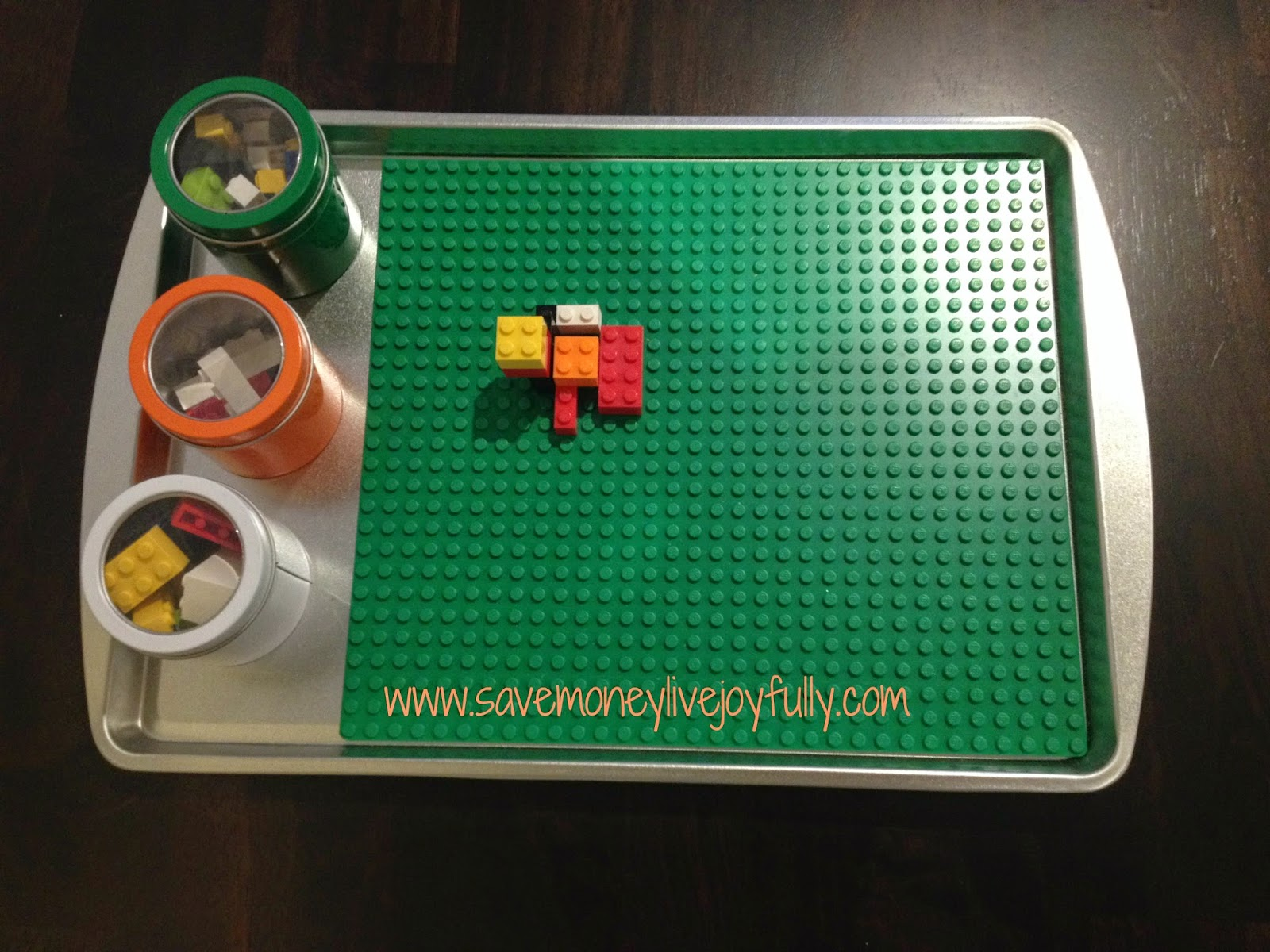 Magnetic Lego Table for Travel