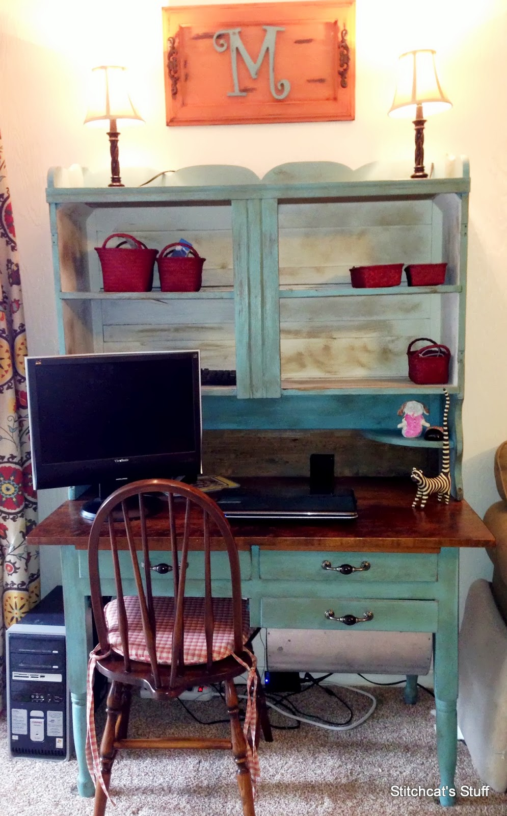 Wheelbarrow cottage cece caldwell chalk and clay paint for Cece caldwell kitchen cabinets