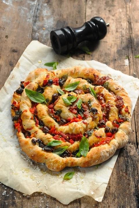 Et si aujourd'hui je me torsadais la pizza ??? Pizza torsadée jambon et tutti quanti !