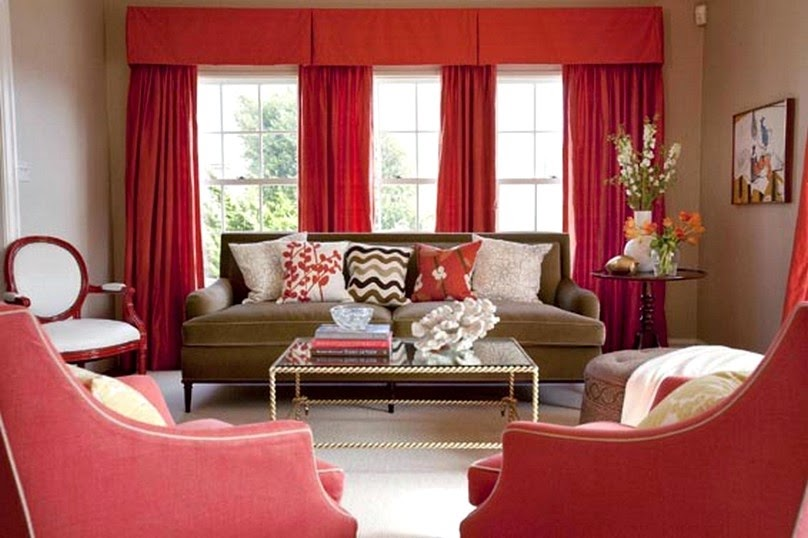 Marvelous Here, A Shag Area Rugs Covering Floor And Custom Upholstery In Designer  Fabric That Decorated With Fringe Trim That Create Warm Living Room ...