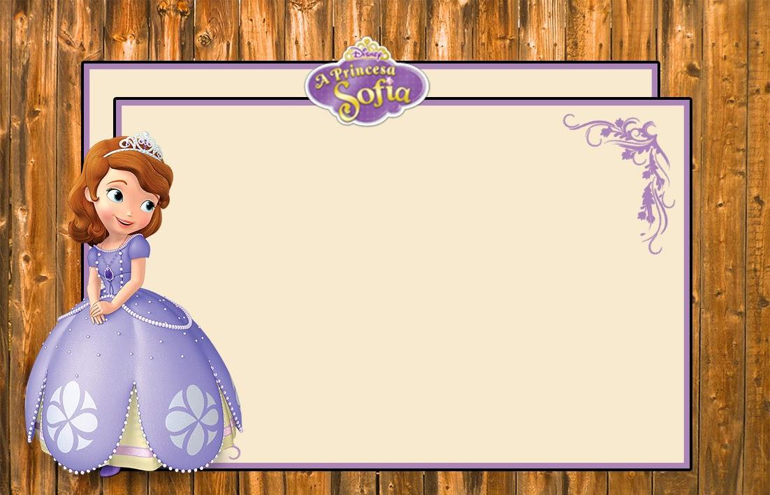 """Convite Aniversário Free """"Princesa Sofia"""" para Imprimir ..."""