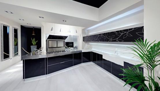 Ideas de Diseño de Cocinas en blanco y negro : Decorar Casa y Hogar
