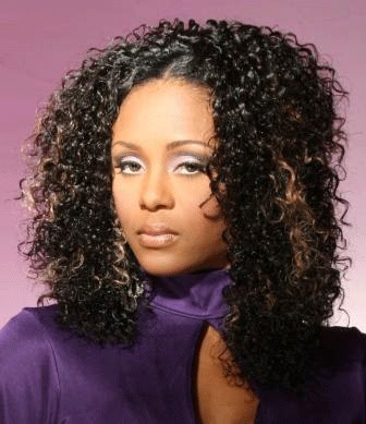 in Brazilian Hair weave hair styles-Medium length Brazilian curl hair