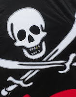 photo of pirate flag in rockaway beach oregon taken by Nancy Zavada