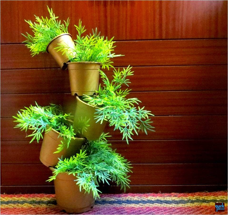 GREEN CASCADES - Quirk It Design - plant - golden - pots - home - decor - DIY