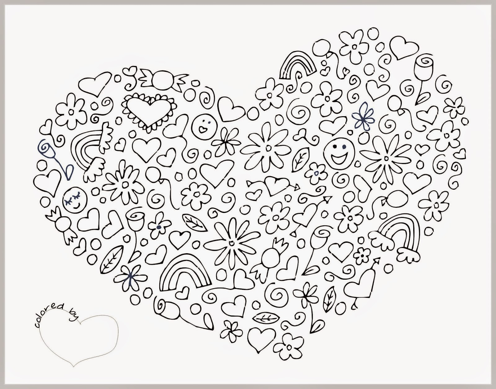 Coloring Pages Of Hearts For Adults