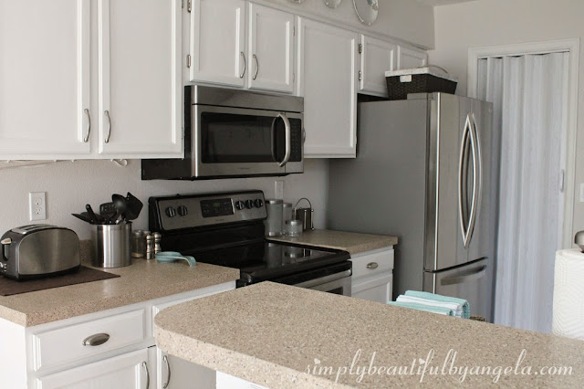 Simply Beautiful By Angela Repainting The Kitchen Cabinets Part 2 The Big Reveal