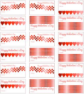 Smart image inside printable valentine tags