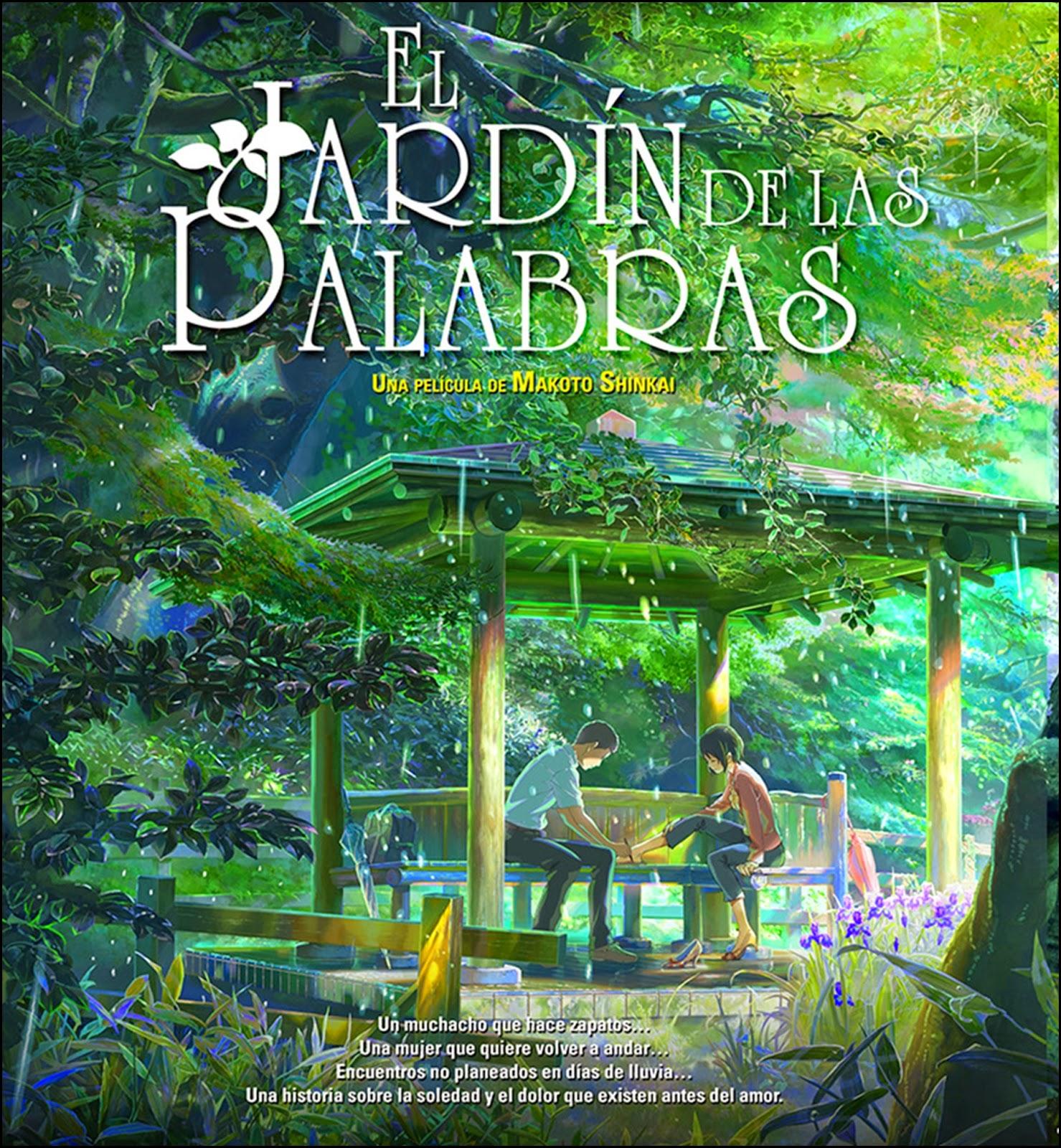 Anime online el jard n de las palabras kotonoha no niwa for El jardin online