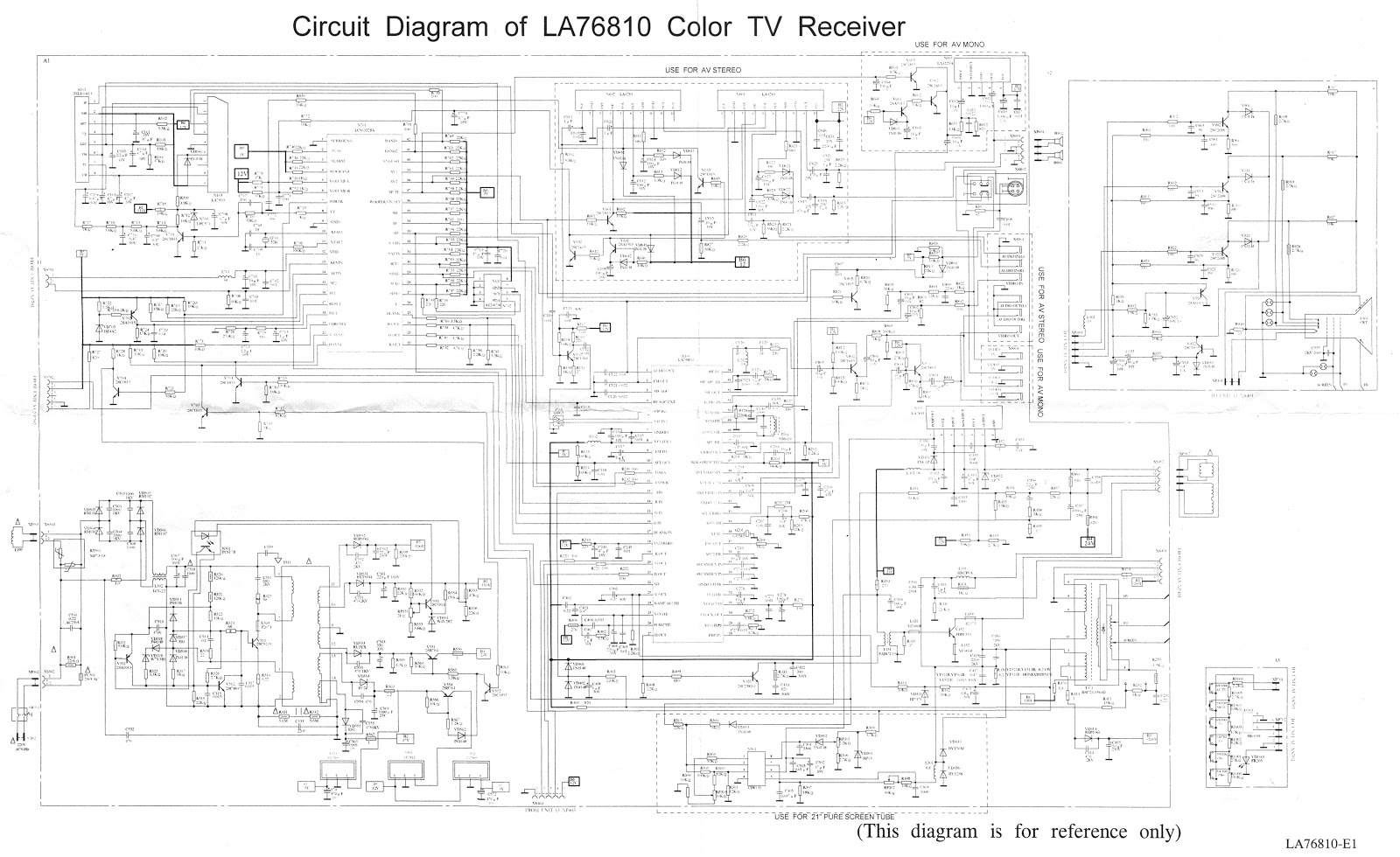 servis tv salatiga  lcd  led  tabung   circuit diagram of la 76810 tv receiver