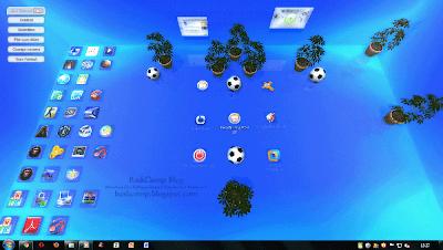 Tampilan utama Real Desktop